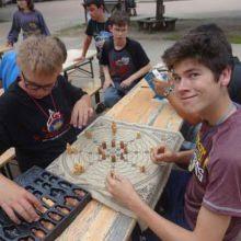 Challenge your Betreuer (counselor) to a game of strategy. Will you win?!