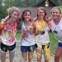 Join the action at a crazy paint party…