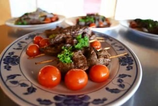 <p>Sunday dinner features <i>churrasco </i>(Brazilian-style grilled meat).</p>