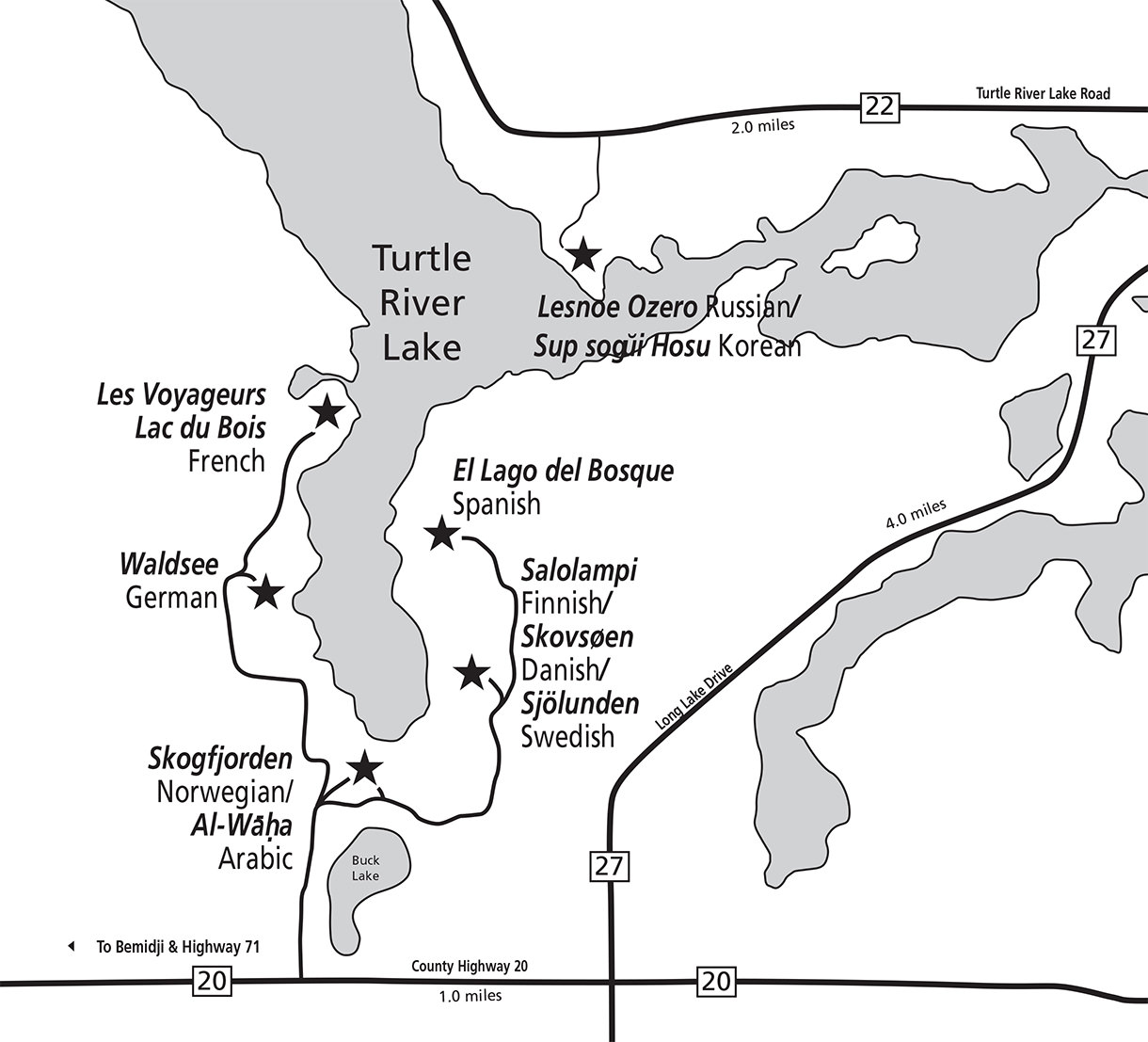Bemidji Minnesota Map.Our Locations Concordia Language Villages