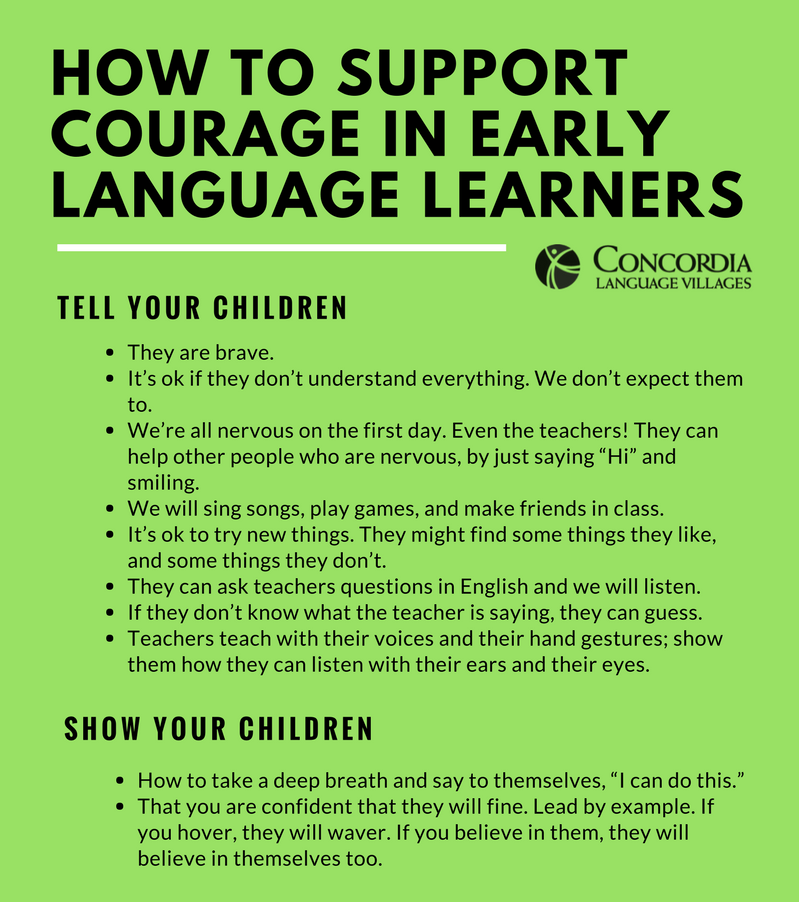 courage in early language learners concordia language villages