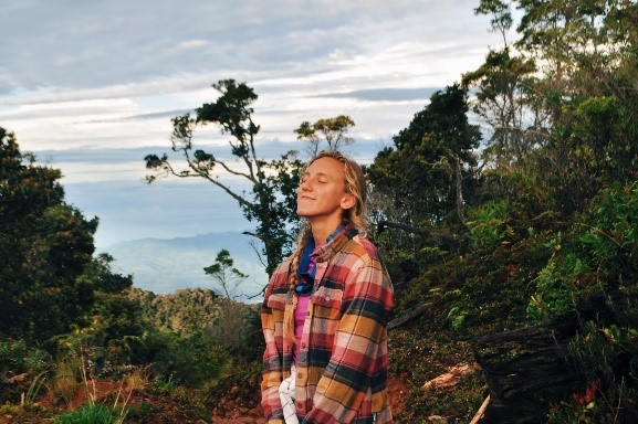 Author Lizzie Shutt in the mountains